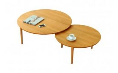 バルーンリビングテーブル 90-2枚 アルダー