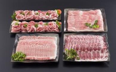 都城産「きなこ豚」しゃぶ肉詰め合わせ