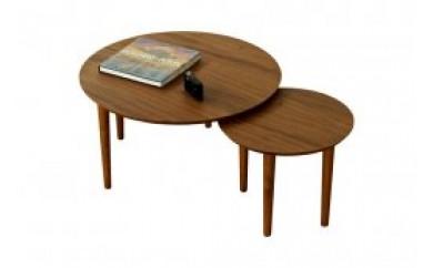 バルーンリビングテーブル 69-2枚 ウォールナット