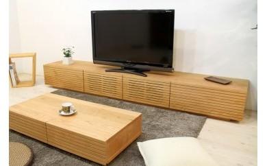 風雅 テレビボード テレビ台 W2400 ブラックチェリー スリット