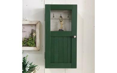 小さな扉のキーボックス 緑色