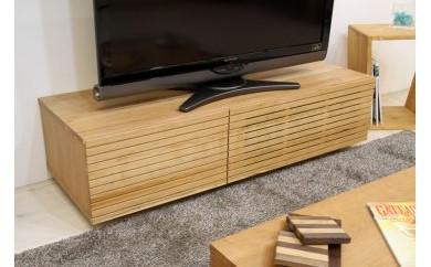 風雅 テレビボード テレビ台 W1200 ブラックチェリー スリット