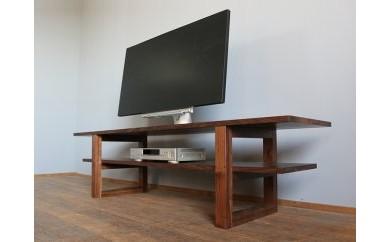 【ロ型の脚がスタイリッシュなテレビ台】JSK テレビボード Hi ウォールナット