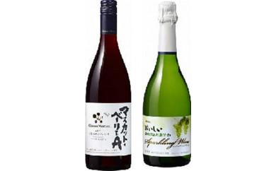 [№5702-0138]メルシャン国産赤ワインとスパークリングワインの2本セット