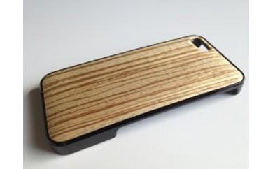 iphone se,5,5s用天然木ジャケット【ゼブラ】