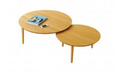 バルーンリビングテーブル 90-2枚 ホワイトオーク
