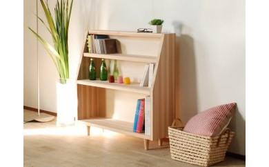 【国産杉を使用したシンプルデザインのブックシェルフ】Sugiブックシェルフ