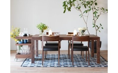 CARAMELLA Dining Table 91168 walnut
