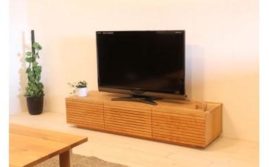風雅 テレビボード テレビ台 W1500 ブラックチェリー スリット