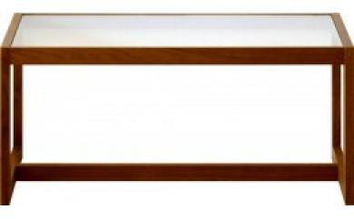 キューブ 90ガラステーブル ウォールナット