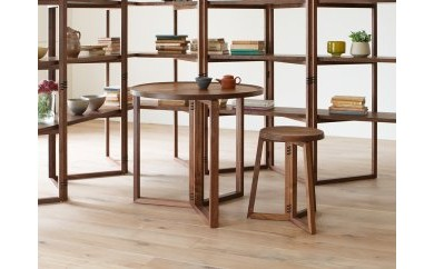 SPAGO Circle Table 070 High walnut