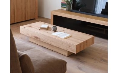 CHOCOLAT Living Table 140 oak (glass top)