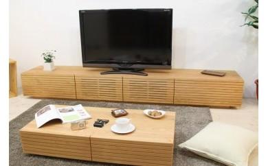 風雅/FUUGA テレビボード W2300 ブラックチェリー スリット