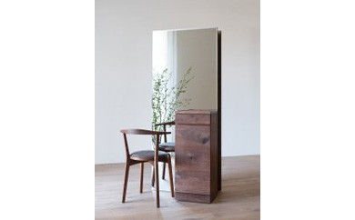 【終了】CARAMELLA Storage Mirror (R) walnut