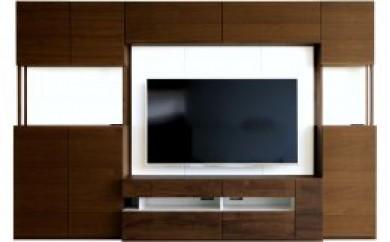 キューブ 140セット ウォールナット/140TVボード・140壁・140上置き・TVブラケット・80キャビネット・40キャビネット(右開き)