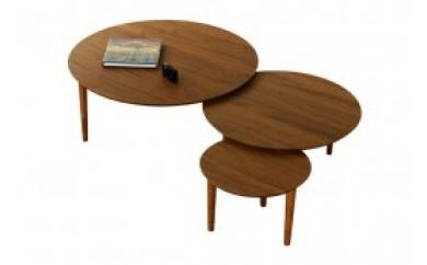 バルーンリビングテーブル 90-3枚 ウォールナット