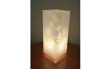 アクリル行灯 Lサイズ 名尾和紙使用 桜透かし模様