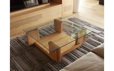 CARAMELLA Living Table 0909 oak (glass top)