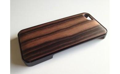 iphone se,5,5s用天然木ジャケット【黒檀】
