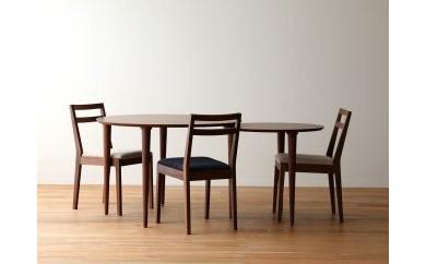 バルーンダイニングテーブル[単品] ウォールナット