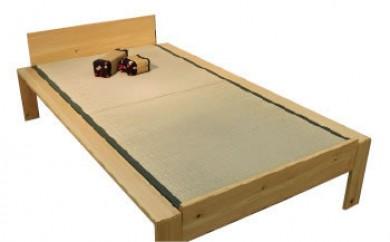 福岡県大川市産KOTO畳ベッドヒノキ材ダブルサイズ(畳付き・組立込)