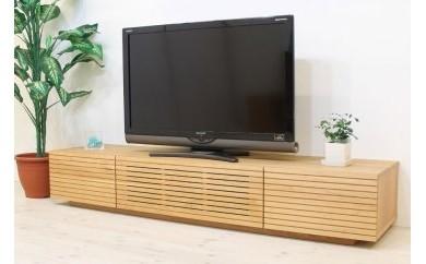 風雅 テレビボード テレビ台 W1800 ブラックチェリー スリット