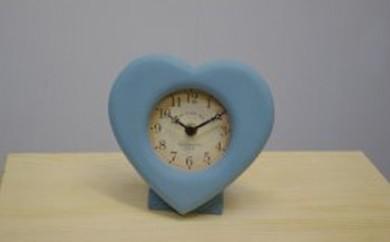 ハート置き時計 マリーンブルー