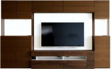 キューブ 160セット ウォールナット/160TVボード・160壁・160上置き・TVブラケット・80キャビネット・40キャビネット(右開き)