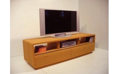 ブラックチェリー材の153cmテレビボード  ROUND