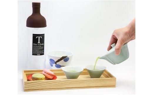 No.062 お茶を美味しくてがるにいれるワンポイントレッスンをペアで!! お土産付:フィルターインボトル-水出し茶-