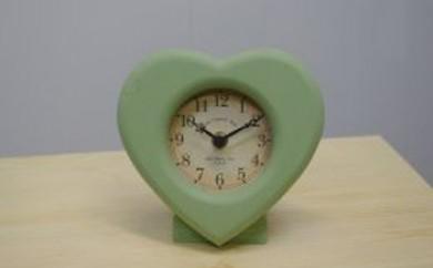 ハート置き時計 ロイヤルグリーン