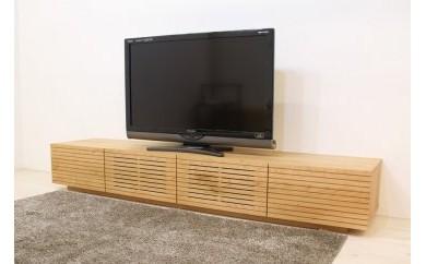 風雅 テレビボード テレビ台 W2000 ブラックチェリー スリット
