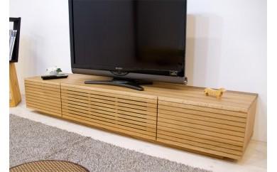 風雅 テレビボード テレビ台 W1800 ホワイトオーク スリット