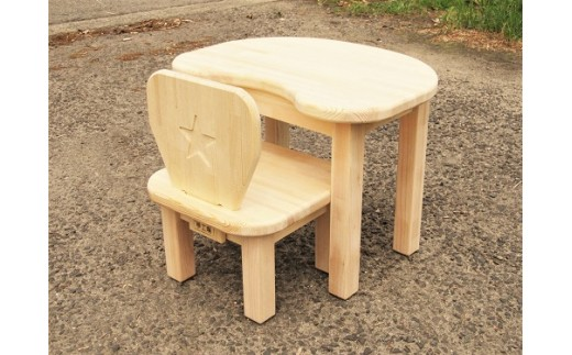 C-018 手作り木製 お子様用、机・いすセットVer.2 Mサイズ