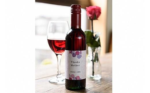 1334 【母の日ギフト】山梨県産赤ワインと美しく咲き続ける一輪のバラセット