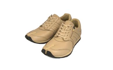 BS46~BS51 足に優しい足袋型シューズ「Lafeet」レザー・ベージュ