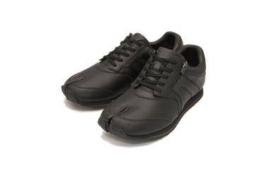 BS35~BS45 足に優しい足袋型シューズ「Lafeet」レザー・ブラック