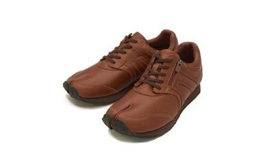 BS24~BS34 足に優しい足袋型シューズ「Lafeet」レザー・ブラウン