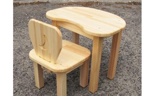 C-019 手作り木製 お子様用、机・いすセットVer.2 Lサイズ