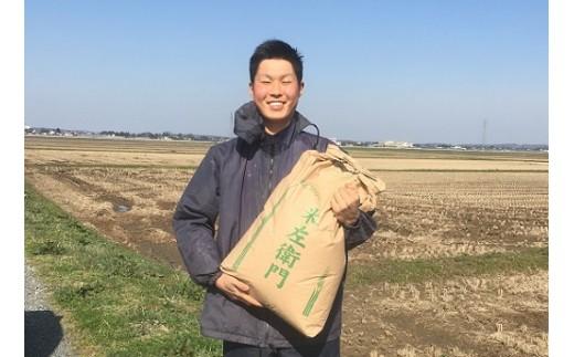 110 十代目又七22歳の【玄米】無農薬・無化学肥料栽培 ひとめぼれ30kg