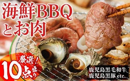 C-075 【焼くだけ簡単】光子社長厳選 海鮮BBQとお肉のセット