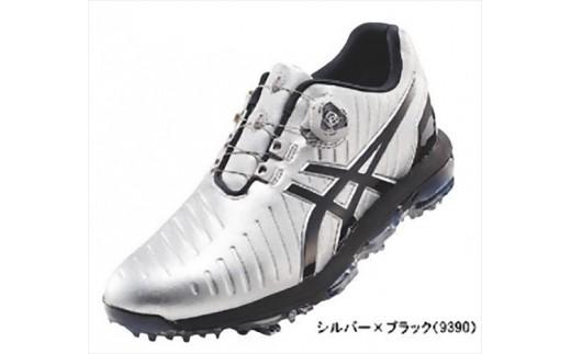【52003】アシックス ゴルフシューズ メンズ ゲルエース プロ3Boa シルバー・ブラック