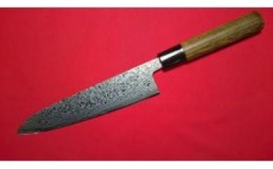 ステンレス割込ダイス鋼最高級包丁ニッケルダマスカス和式剣型三徳180mm