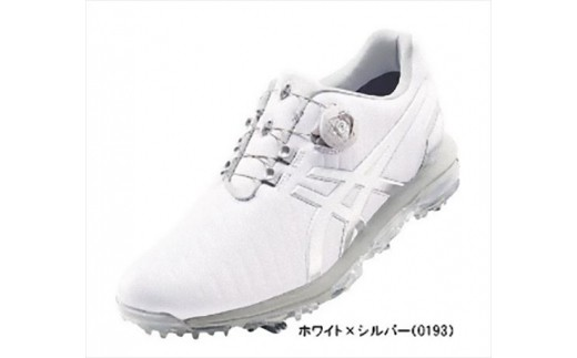 【52002】アシックス ゴルフシューズ メンズ ゲルエース プロ3Boa ホワイト・シルバー