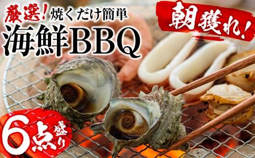 B-196 【焼くだけ簡単】光子社長厳選 海鮮BBQ 6点盛