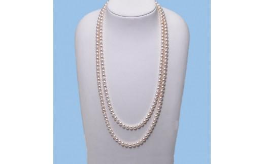 パールロングネックレス6.5ミリ珠