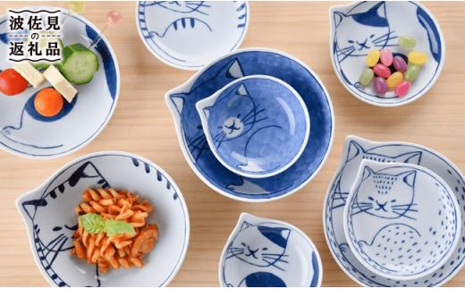 LB21 【波佐見焼】necoシリーズ 皿・鉢necoファミリー16点セット🐈【石丸陶芸】
