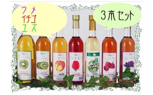 B-265 立花ワイン3本セット(ウメ・イチゴ・ユズ)