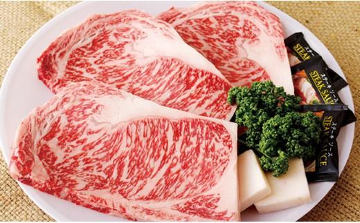 K553 長崎和牛サーロインステーキ(3枚)【800pt】