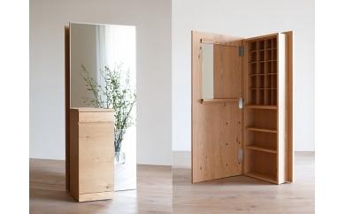 CARAMELLA Storage Mirror (L) oak
